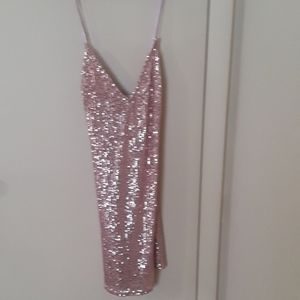 Victoria's Secret pink sequin club dress Med.